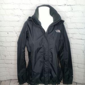 The North Face black Resolve rain jacket Sz L
